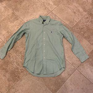 Men's Ralph Lauren striped button up size 15